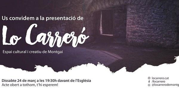 """Presentació del projecte Cultural i Social de """"Lo Carreró"""""""