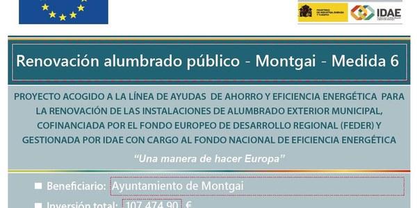 Renovación alumbrado público - Montgai - Medida 6