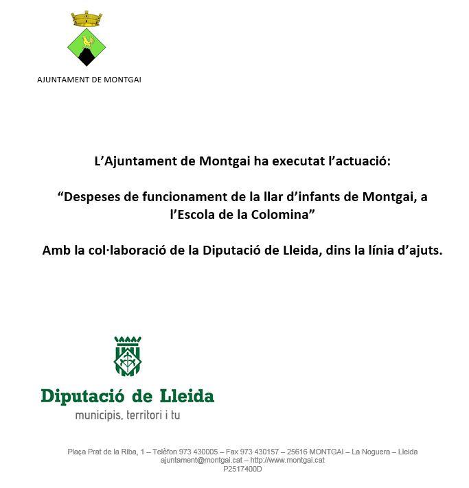 Diputació de Lleida: Llar d'infants de Montgai