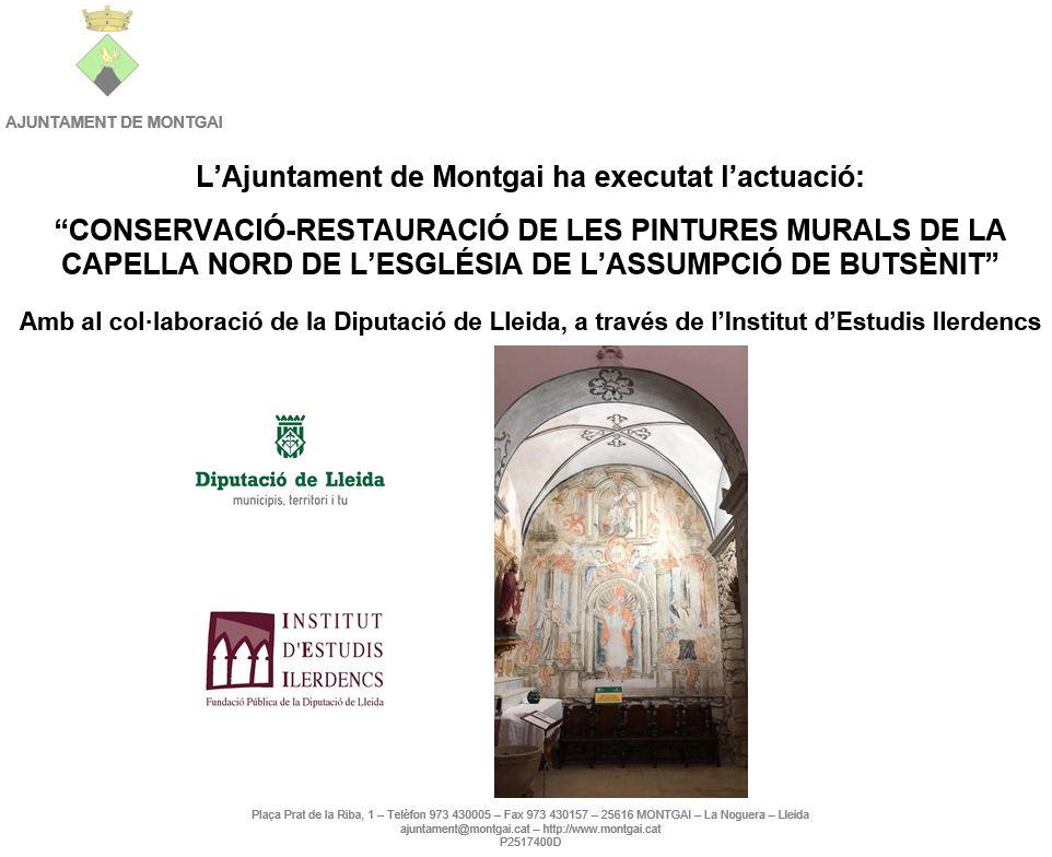 Diputació de Lleida: CR pintures capella nord de l'església de Butsènit