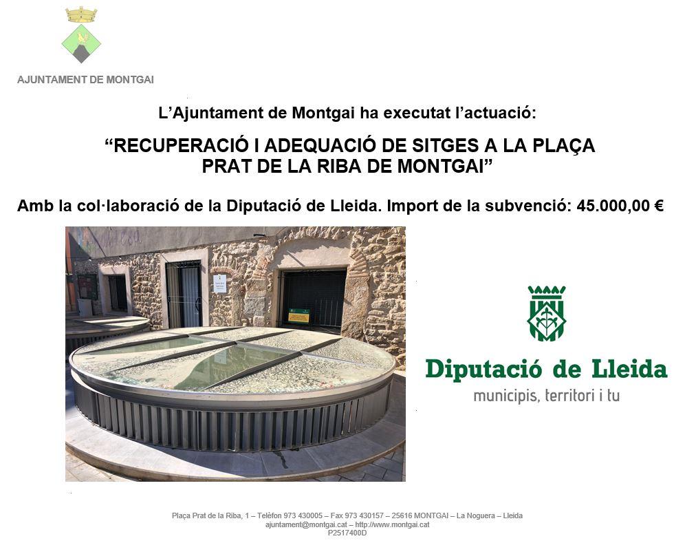 Diputació de Lleida: Recuperació de les sitges de la Fassina