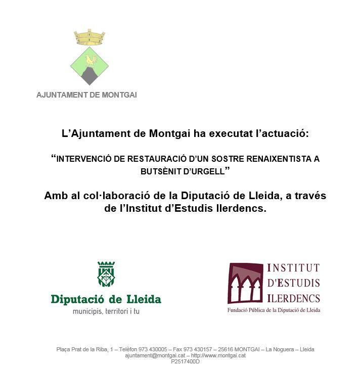 Diputació de Lleida: Restauració del sostre renaixentista de Butsènit